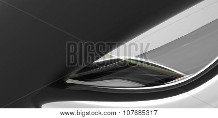 Black And White Monochromatic And Colour Abstract 3D Interiour Design Modern Future