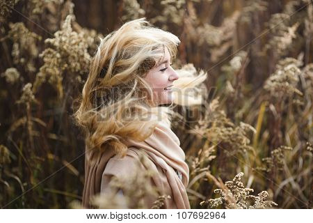 Girl With Wind In Her Hair