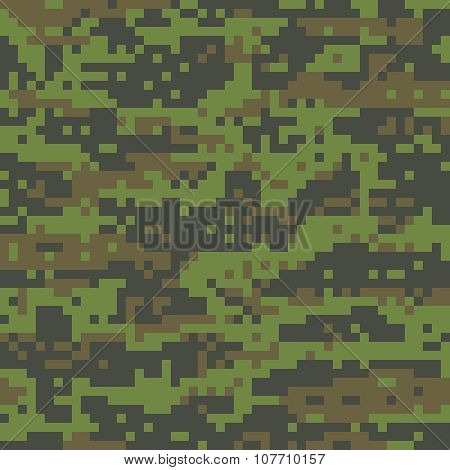 Digital Woodland Camouflage Military Pattern