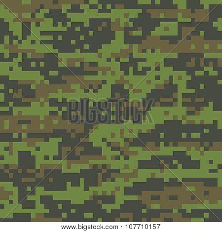 Digital Woodland Camouflage Military Pattern