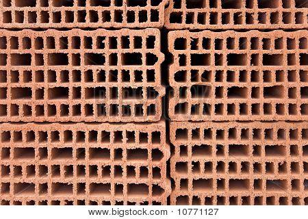 Orange Brick Building Construction Wall Material