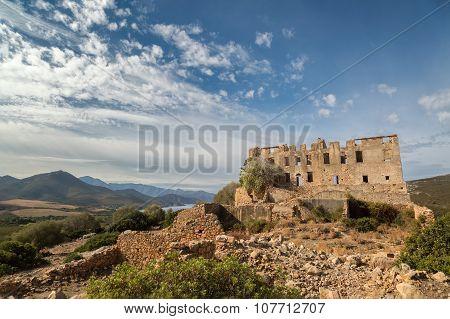 Chateau Of Pierre-napoleon Bonaparte Between Calvi And Galeria In Corsica