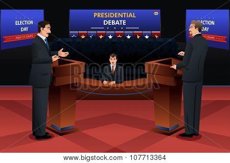 Presidential Debate on Stage