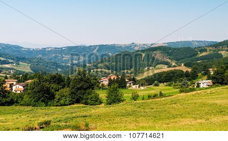 Tuscany farmhouse in the countryside landscape