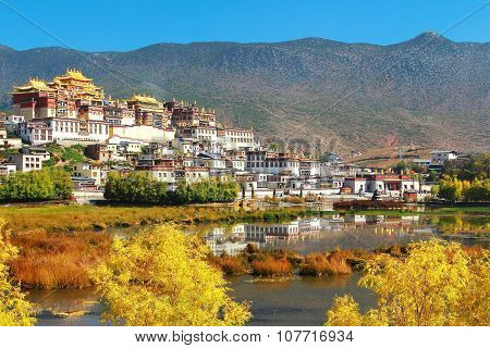 Songzanlin Temple also known as the Ganden Sumtseling Monastery, is a Tibetan Buddhist monastery   i