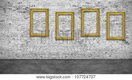 Four Vertical Golden Frames