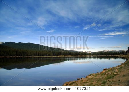 Lake With Mountains In Scenic Colorado