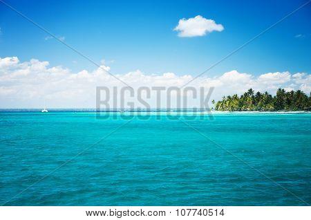 Beautiful Landscape, Tropical Island And Cloudscape