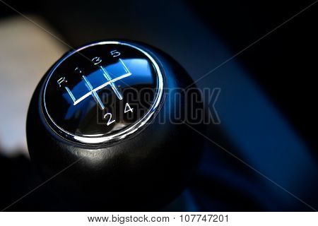 Close-up Of Gear Stick From Manual Gearbox