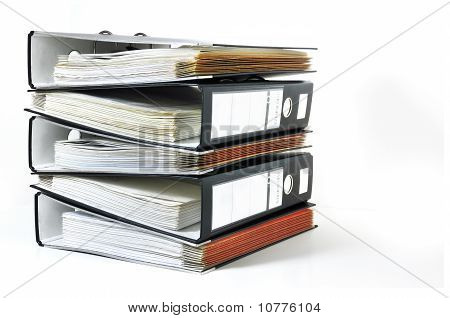 Stack of office files
