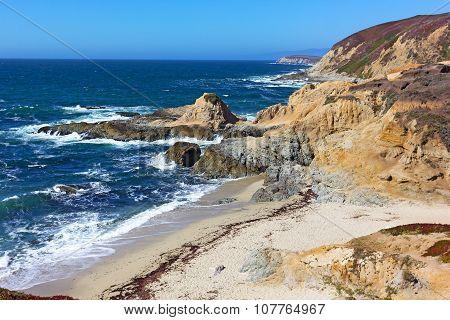 Scenic view on Pacific coastal line California USA.