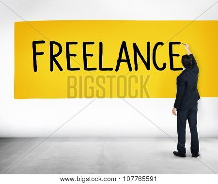 Freelance Part time Outsources Job Employment Concept poster