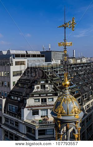 Aerial View From The Terrace Of Store Printemps, Paris 1