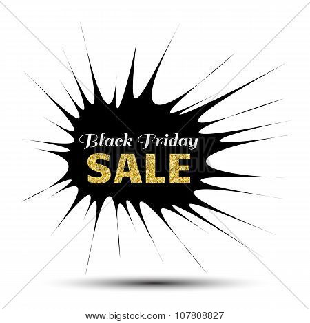 Black Friday Sale pointy Banner
