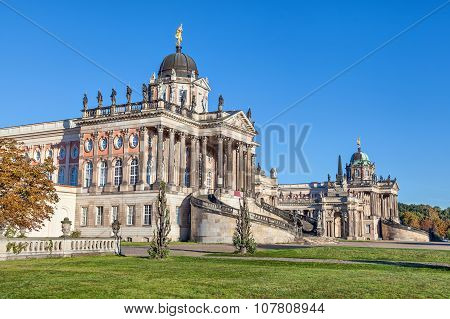 Historical buildings of University of Potsdam Germany poster