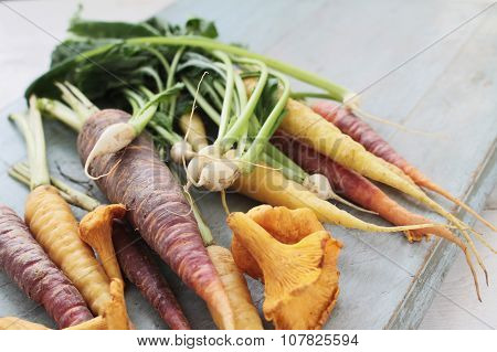 mixed Autumnal seasonal vegetables