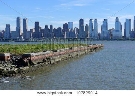 Ruined Pier on Hudson River