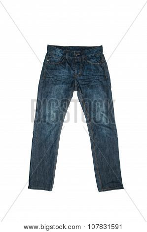Blue Jeans isolated on white background.