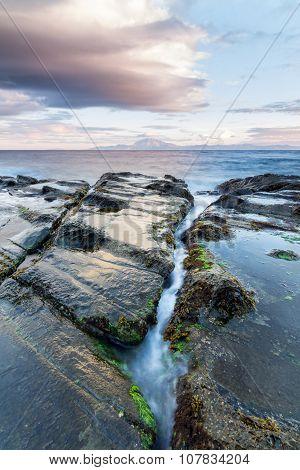 Water inlet. Crack in flysch. Strait of Gibraltar.