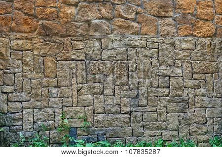 Wall In A Old Construction
