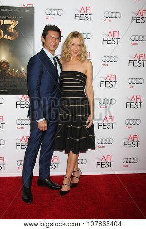 LOS ANGELES - NOV 9:  Lou Diamond Phillips, Yvonne Boismier Phillips at the AFI Fest 2015 Presented by Audi -