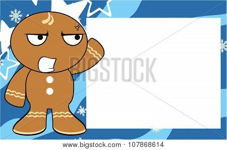 annoying xmas gingerbread kid cartoon expression background