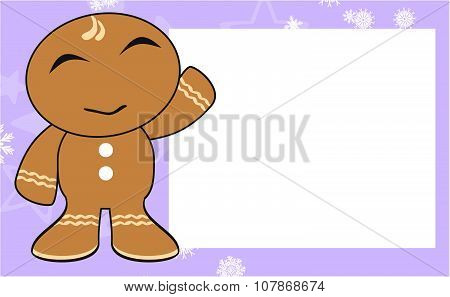 happy xmas gingerbread kid cartoon expression background