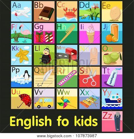 Illustrator of vocabulary A - Z alphabet