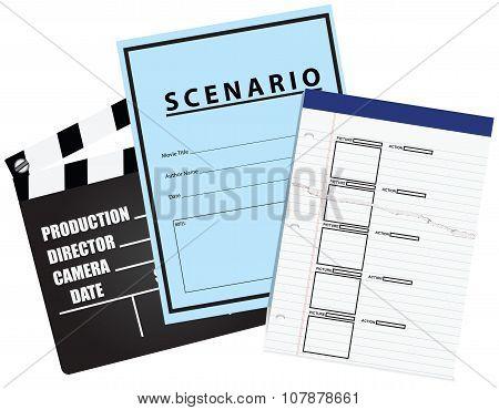 Blank Movie Storyboard Scenario