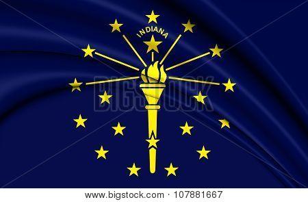 Flag Of Indiana, Usa.