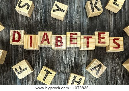 Wooden Blocks with the text: Diabetes