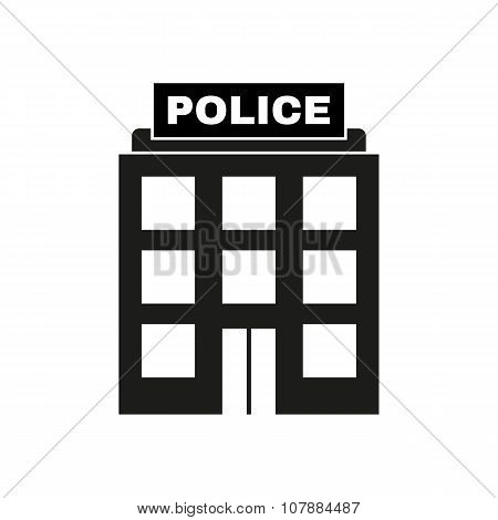 The police icon. Law and authority symbol. Flat Vector illustration poster