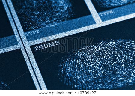Thumb Fingerprint File