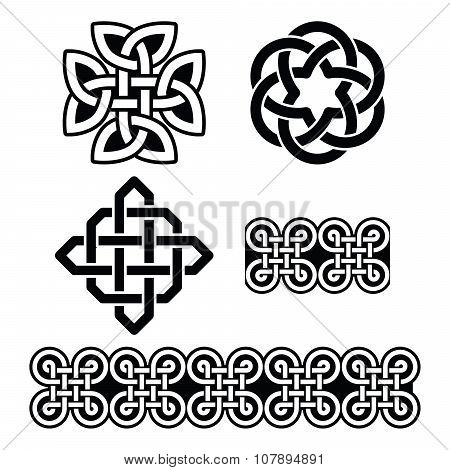 Celtic Irish patterns and knots - vector, St Patrick's Day