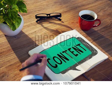 Content Blogging Communication Publication Concept