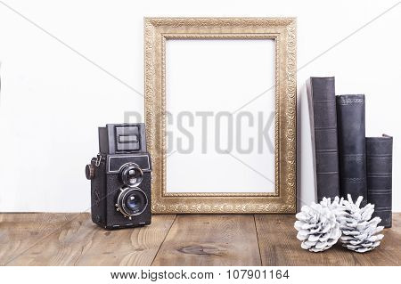 Golden Frame With Camera