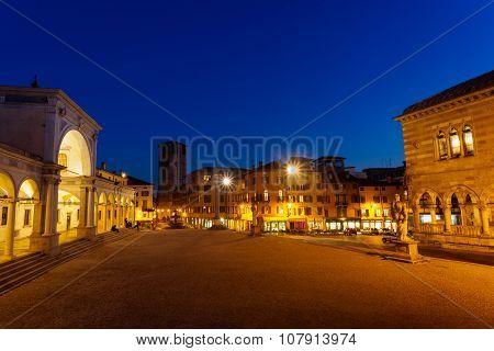 Udine, View Of Piazza Libertà