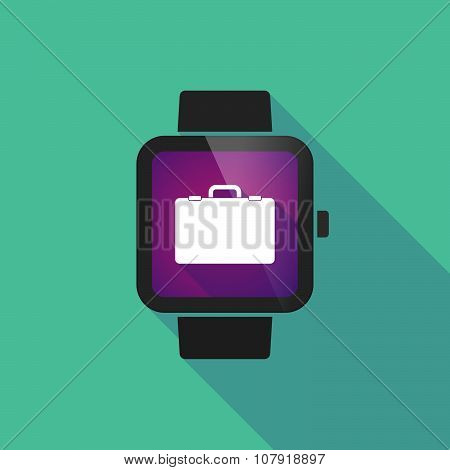 Smart Watch Vector Icon With  A Breiefcase