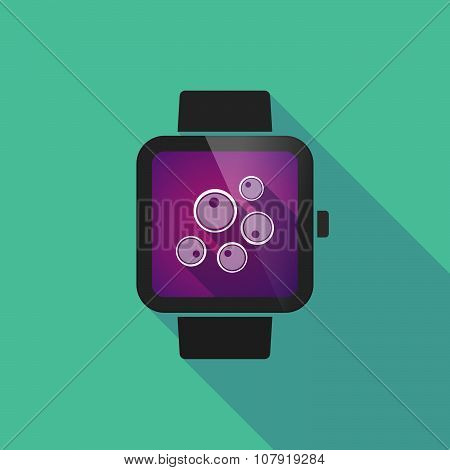 Smart Watch Vector Icon With Oocytes