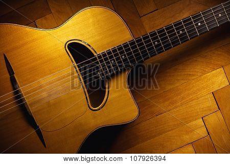 Gypsy Guitar On Parquet