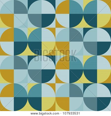 Geometric pattern in vintage circles