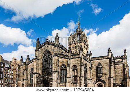 St Giles' Cathedral at sunset, Edinburgh, Scotland
