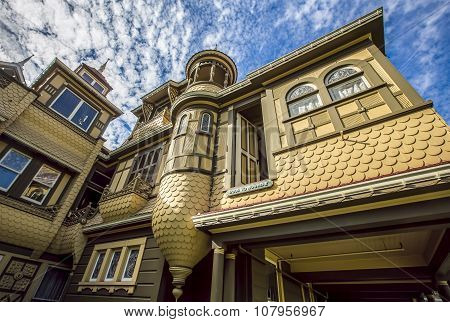 Famous Door To Nowhere At The Winchester Mystery House
