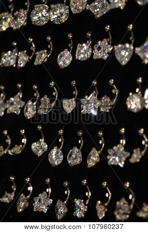 Collection Of Earrings For Navel Piercing Monochrome