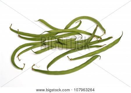 Green Beans White Background