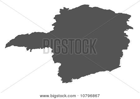 Isolated map of Minas Gerais - Brazil poster