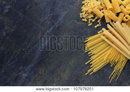 uncooked pasta selection