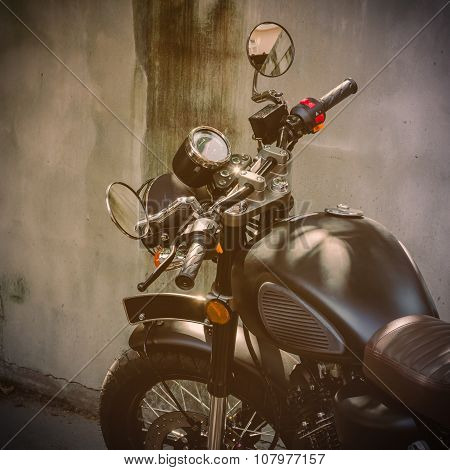 Picture Of Classic Motorcycle