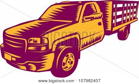 Pick-up Truck Woodcut