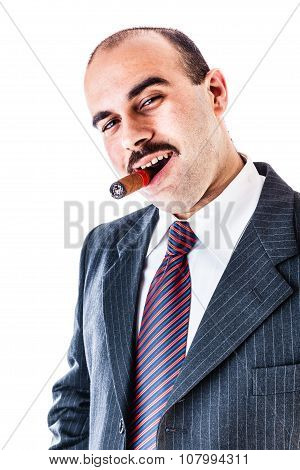 Smiling With A Cigar